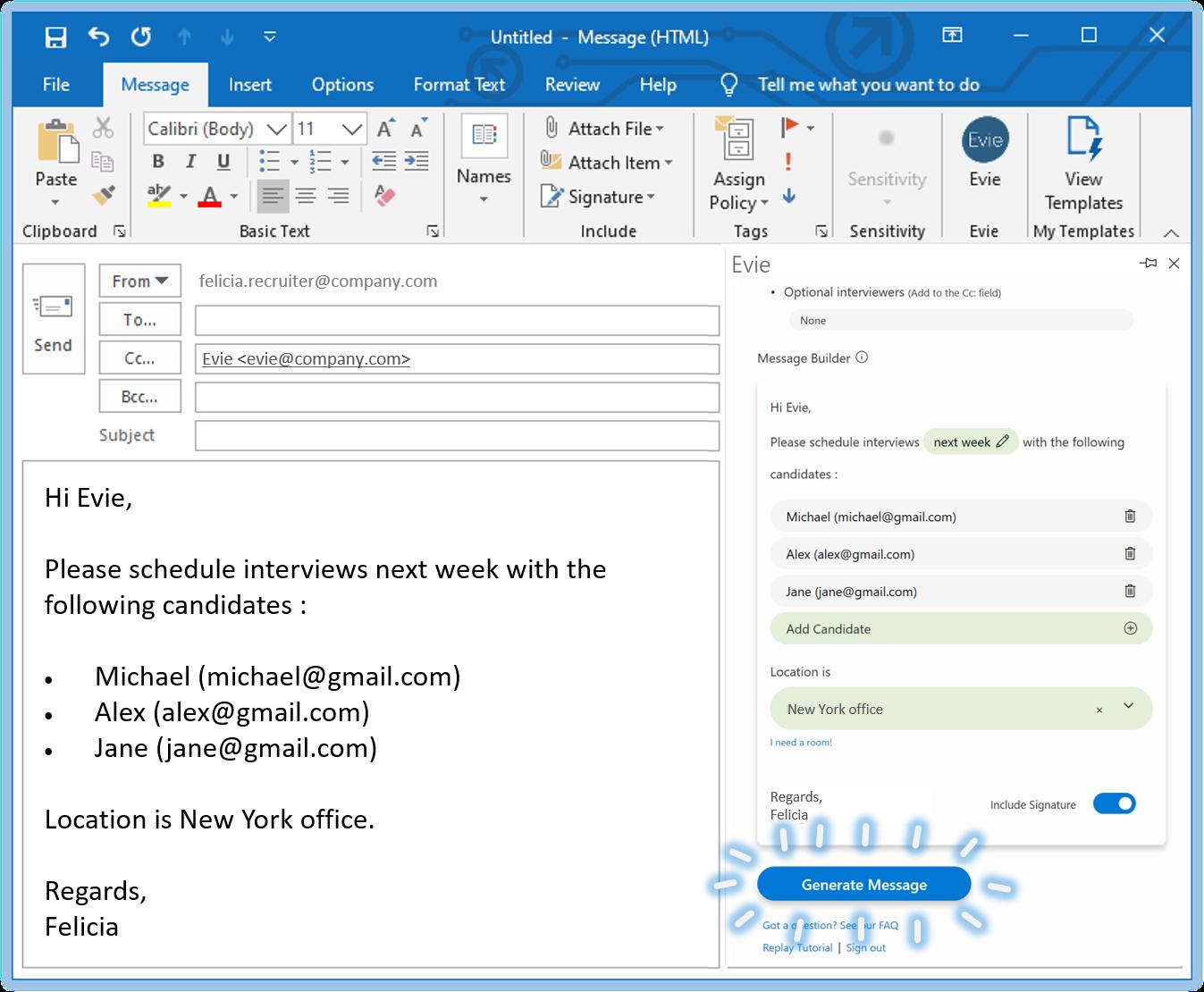 OutlookPluginMessage