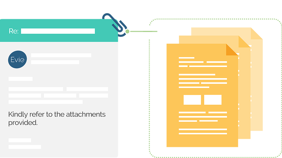 Attachment of documents to the interview confirmation email
