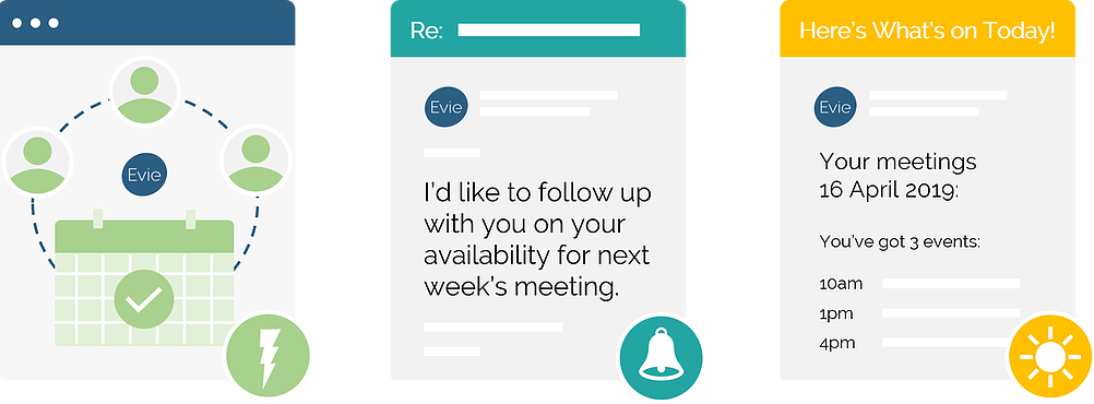 Nothing will fall through the cracks with Evie's instant, proactive scheduling